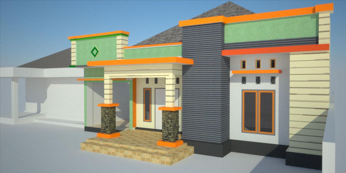 Desain Fasad atau muka didesain dengan model minimalis dengan teras ...